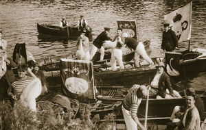 Swan upping on the Thames, 20th century. Artist: Unknown