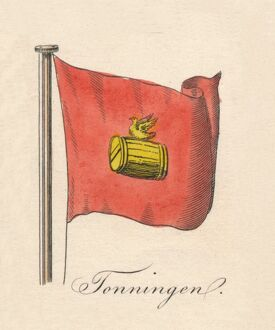 'Tonningen', 1838. Artist: Unknown.