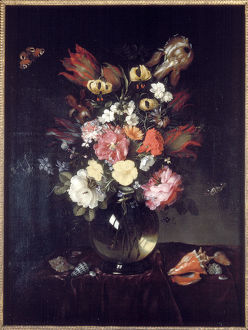 'Vase and flowers', 1655. Artist: Pieter van de Venne