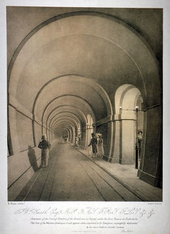 View of the (proposed) western archway of the Thames Tunnel, London, c1831. Artist: Anon