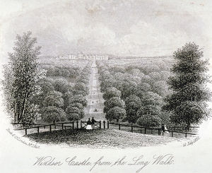 View of Windsor Castle from Windsor Great Park, Berkshire, 1860. Artist: Anon