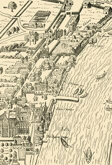 'Whitehall and Westminster. (From Aggas' Map)', (1881). Creator: Unknown