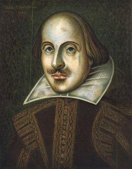 William Shakespeare, English playwright, 1609. Artist: Unknown