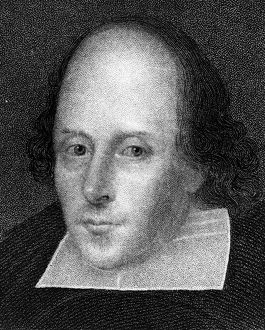William Shakespeare, English poet and playwright. Artist: J Cochran