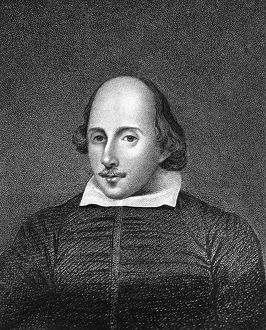 William Shakespeare, English poet and playwright. Artist: William Thomas Fry