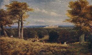 'Windsor Castle from the Great Park', 1846. Artist: David Cox the elder.