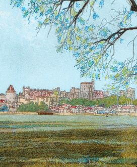 'Windsor Castle from the Thames', c1902. Artist: Unknown.