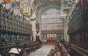 'Windsor, St. George's Chapel, Choir' c1916. Artist: Unknown.