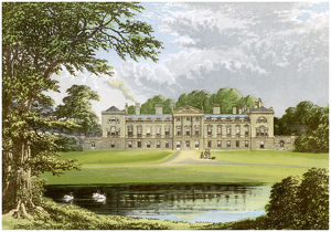 Woburn Abbey, Bedfordshire, home of the Duke of Bedford, c1880. Artist: Unknown