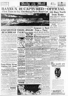 daily mail pages/daily mail page 8th june 1944 reporting progress
