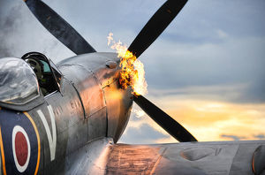 Spitfire Fighter Aircraft 'Hot Starting' Engines