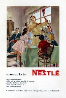 Advertisement for Nestle Chocolate