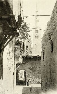 Damascus street , Syria in 1894