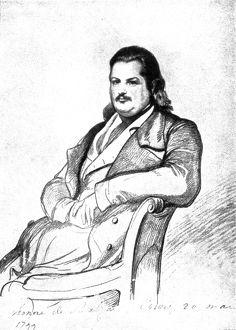 Honore Balzac portrait