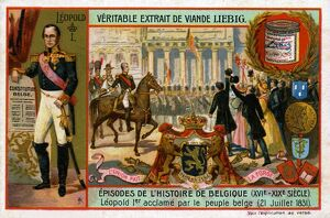 Leopold I, saluted by the people of Belgium