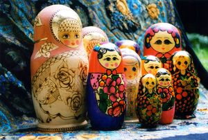 RUSSIA -Handicrafts -Wooden dolls