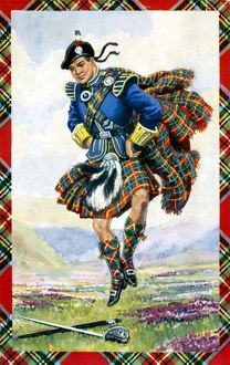 Scottish dancer wearing kilt