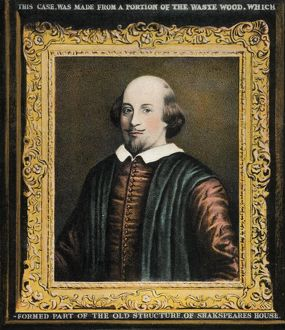 William Shakespeare framed portrait