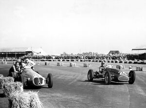 1950 British Grand Prix - Geoffrey Crossley and B. Bira
