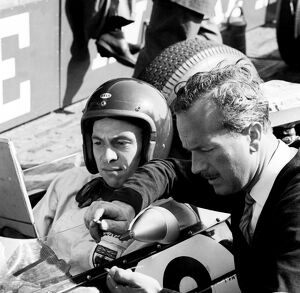 1963 Dutch Grand Prix - Jim Clark and Colin Chapman