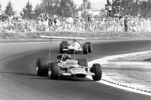 1968 Mexican Grand Prix - Graham Hill and Jackie Stewart
