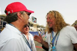 Formula One World Championship: Rock legends Eric Clapton and Robert Plant Led Zeppelin