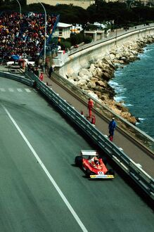 Niki Lauda finishes 2nd in Monte Carlo behind the winner Jody Scheckter