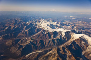 Aerial View Of The Alaska Range, Mount Mckinley And Mt. Foraker In The Far Distance