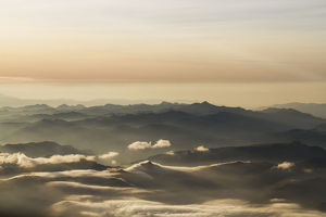 Aerial View Of The Andes Mountains At Dawn, Ecuador