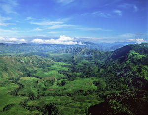 Aerial View Of The Highlands; Papua New Guinea