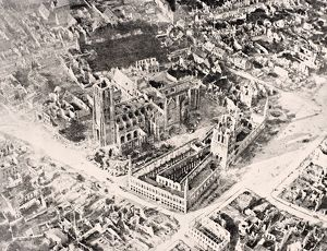 Aerial View Of Ypres In 1915 After First And Second Battles Of Ypres
