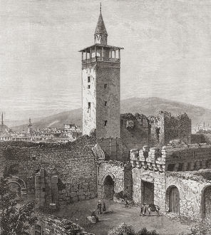 vintage/bab sharqi eastern gate damascus syria 19th