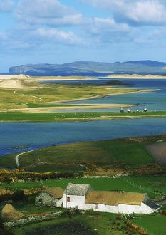 Ballyness, Co Donegal, Ireland; Aerial View Of House And Bay