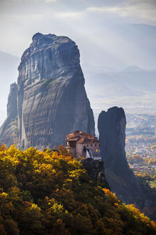 Monastery On A Cliff; Meteora, Greece