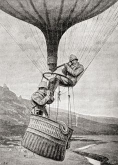 Observing The Enemy From A Military Balloon During The Second Boer War