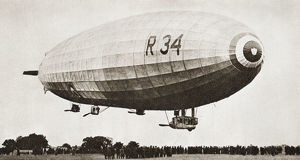 The R34, Rigid Airship, Landing At Pulham, Norfolk, England, July 13Th 1918, After