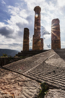 Temple Of Apollo; Delphi, Greece