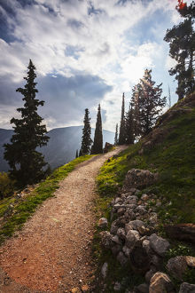 Walking Path On Mount Parnassus; Delphi, Greece