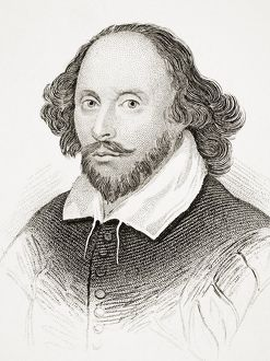 William Shakespeare 1564-1616 English Poet Playwright Dramatist And Actor From Old