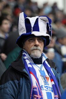 A fan at Stoke City for the FA Cup 5th Round, Feb 2011.