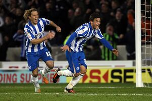 Jake Forster-Caskey scores against Southamptont at the Amex, Jan 2012