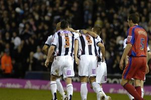 Albion celebrate Clement's goal