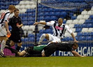 Albion denied by Price in a goalmouth scramble