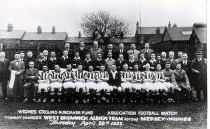 Albion team at a charity game in Widnes
