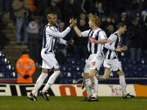 Kamara celebrates Albion's first with McShane