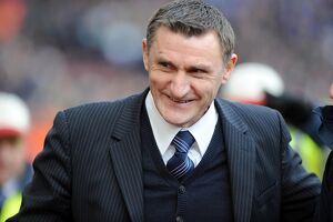 Tony Mowbray at Villa Park