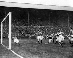 WG Richardson scores the first goal
