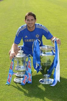players/squad 2012 2013 season frank lampard/soccer chelsea team photocall cobham training