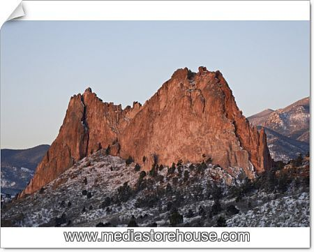 Photographic Print Of Cathedral Rock With Snow Garden Of