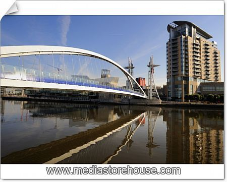 Photographic Print Of The Lowry Bridge Over The Manchester